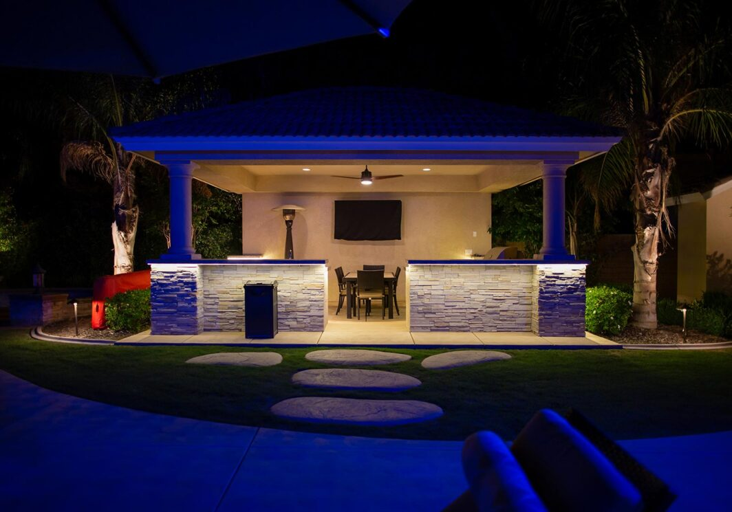 Backyard BBQ Lighting